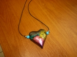 Medallion heart (polymer clay)